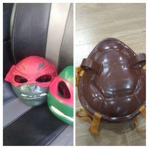 Lot ninja turtles mask and shell too